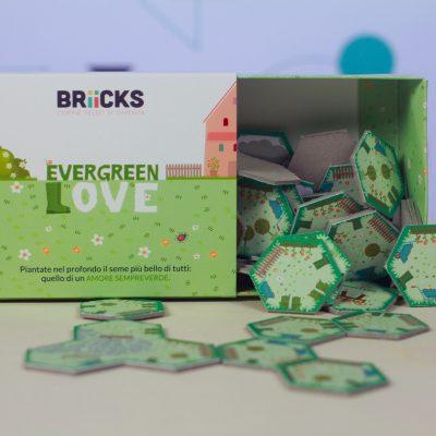 evergreen love scatola aperta e contenuto